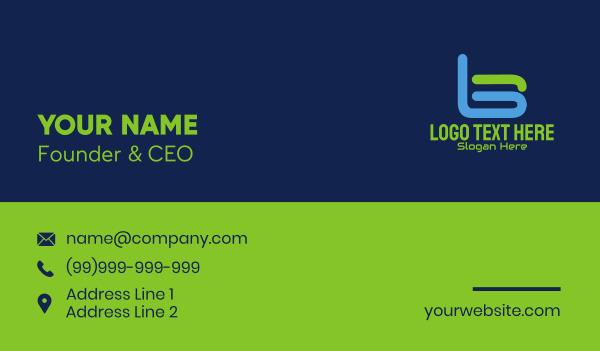 it expert - Letter B Digital Tech Business card horizontal design
