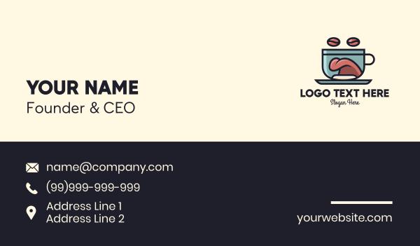 mocha - Coffee Tongue Cup Mascot Business card horizontal design