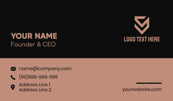 property developer - Brown Construction Letter S Business card horizontal design