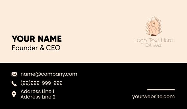 maiden - Woman Skin Care  Business card horizontal design