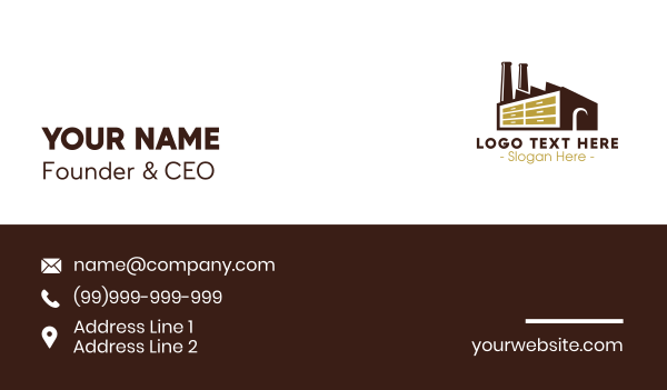 power plant - Cabinet Factory Business card horizontal design