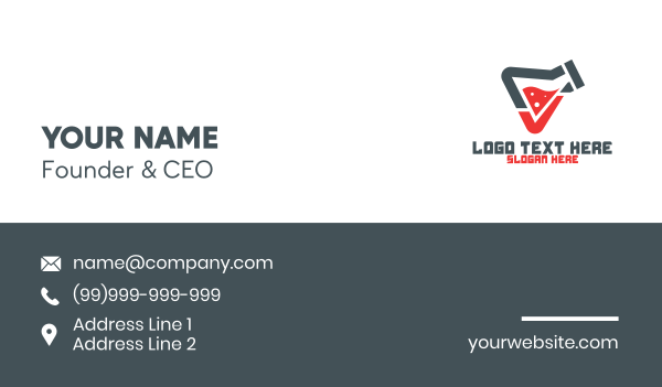 check mark - Lab Check Business card horizontal design