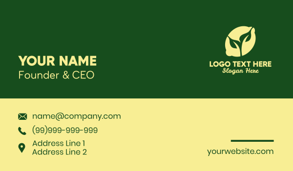 lime - Natural Organic Lemon  Business card horizontal design
