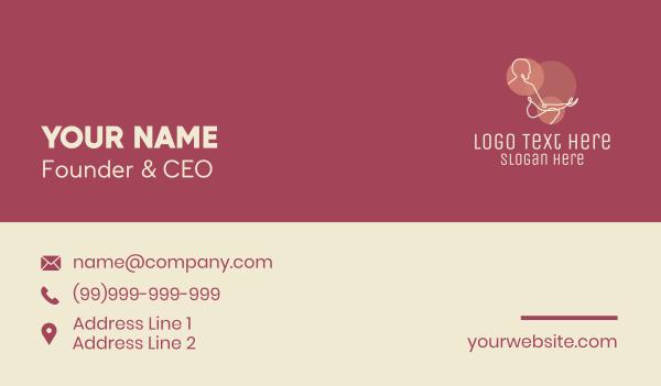 physique - Meditating Man Monoline Business card horizontal design