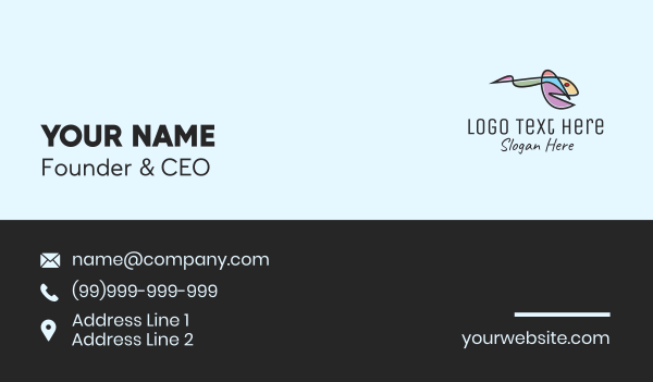Abstract Fish Art Business Card