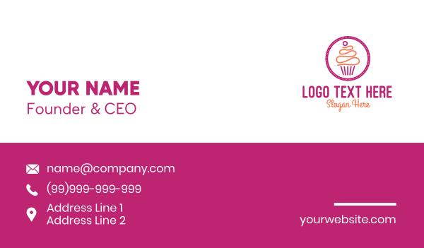 recipe - Modern Cupcake Shop  Business card horizontal design