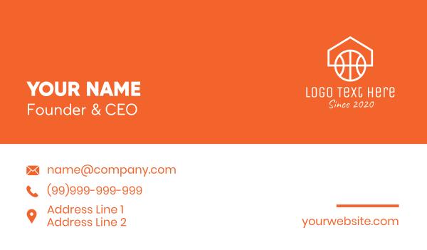 hoop - Basketball Home Couurt Business card horizontal design
