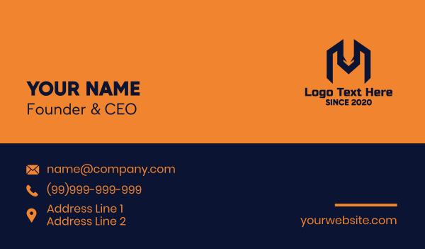 wild animal - Wild Fox Letter M Business card horizontal design