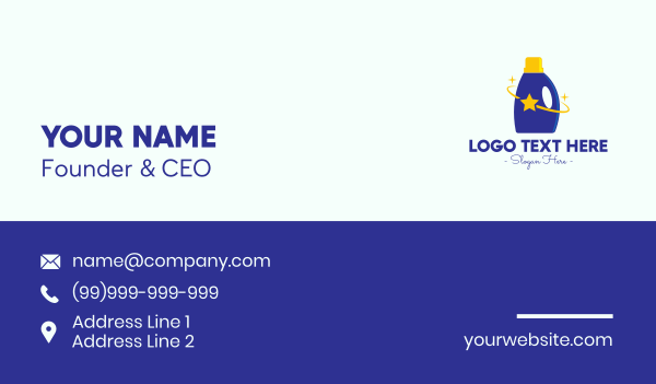 liquid soap - Star Cleaning Supplies Business card horizontal design