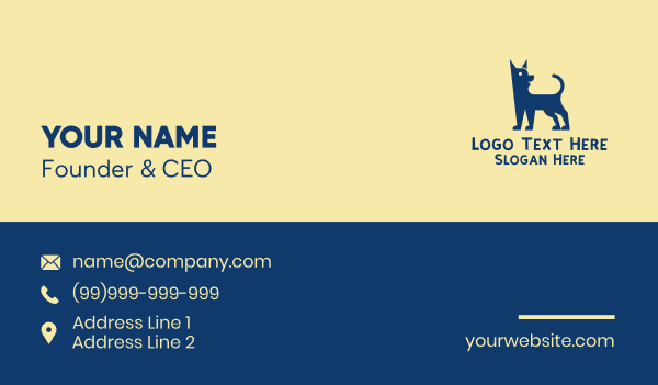 groomers - Happy Dog Shelter Business card horizontal design