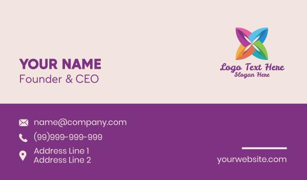 crafty - Multicolor Floral Bloom Business card horizontal design