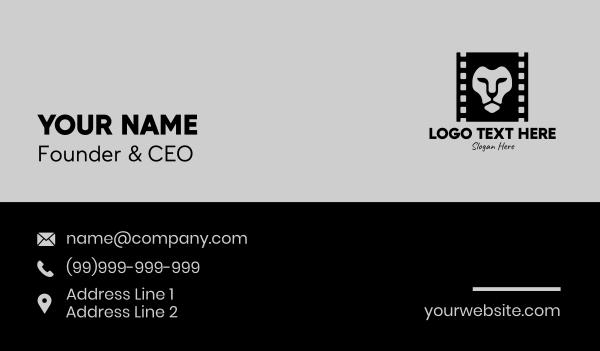 movie house - Lion Film Production Business card horizontal design