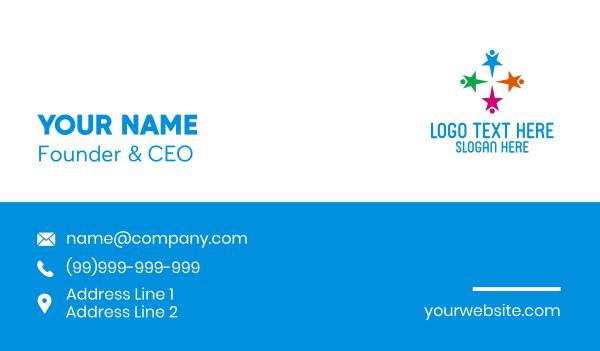 humans - Star Kids Preschool Business card horizontal design