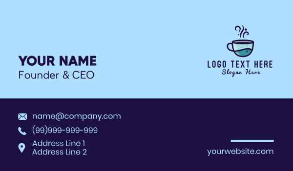 mocha - Coffee Fish Cup Business card horizontal design