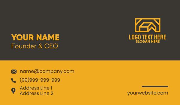 scene - Orange House Frame Business card horizontal design