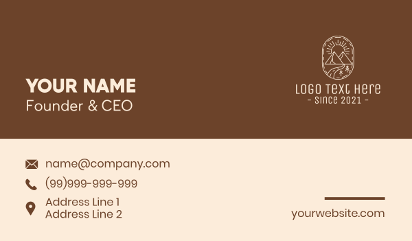 scenery - Simple Outdoor Travel Business card horizontal design