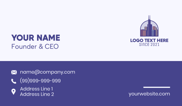 chicago - Chicago City Metropolis Business card horizontal design