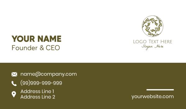 green olive - Green Olives Circle Business card horizontal design