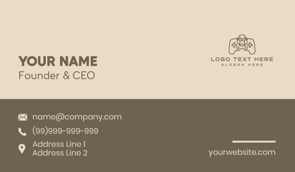 internet cafe - Monoline Gaming Gorilla Business card horizontal design