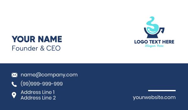 fluid - Water Cup Business card horizontal design