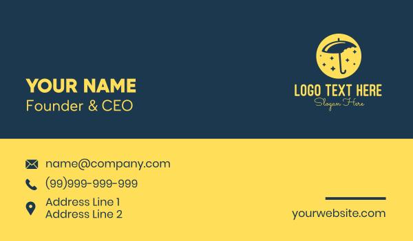 shimmering - Umbrella Bites Business card horizontal design