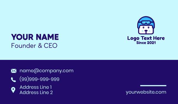 dog trainer - Cute Dog Pilot Business card horizontal design