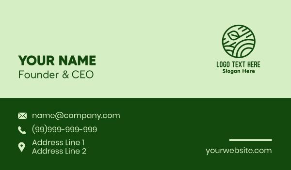 cereal - Green Organic Eco Circle Business card horizontal design