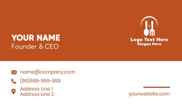eating - Eating Time Clock  Business card horizontal design