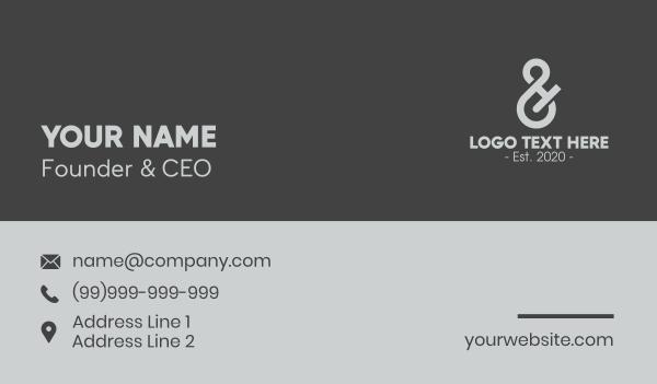 eight - Gray Number 8 Business card horizontal design