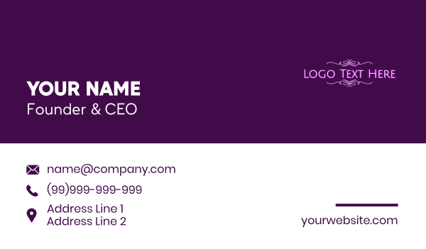 clothing line - Luxury Fashion Store Wordmark Business card horizontal design