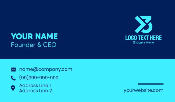 Blue Y3 Gamer Business Card