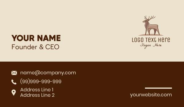 doe - Brown Elegant Stag Business card horizontal design
