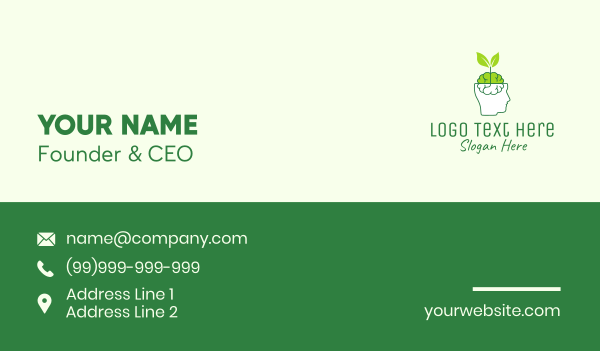 pharmaceutics - Organic Neurological Medicine  Business card horizontal design