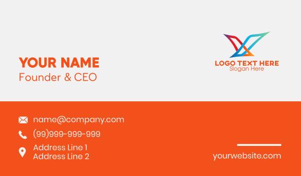air travel - Soaring Bird Gradient Business card horizontal design