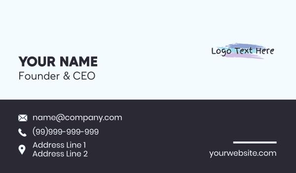 text logo - Finger Painting Wordmark Business card horizontal design