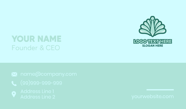 seashell - Clam Neck Tie Business card horizontal design