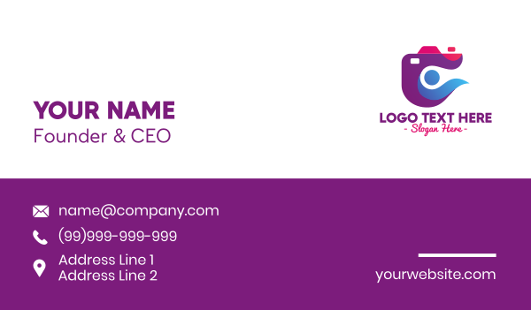 show business - Stylish Abstract Camera Business card horizontal design