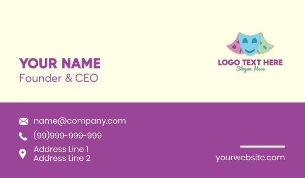 theater - Drama Club Theater Business card horizontal design
