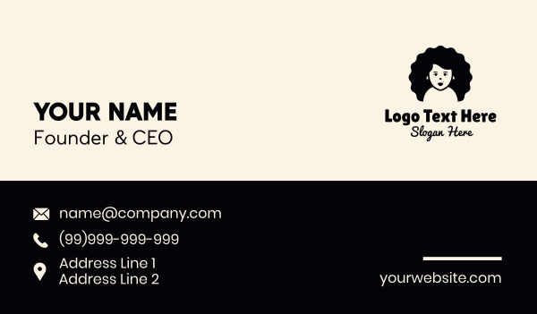 orphanage - Big Hair Girl Business card horizontal design
