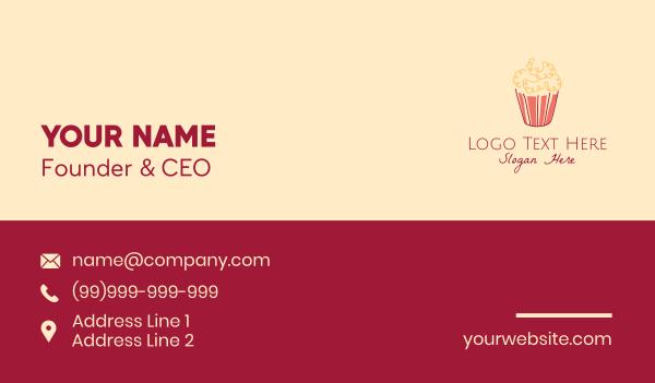 film critic - Movie Popcorn Snack Business card horizontal design