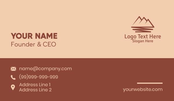 traveler - Mountain Scribble  Business card horizontal design