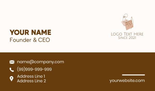 maiden - Feminine Model Art Business card horizontal design
