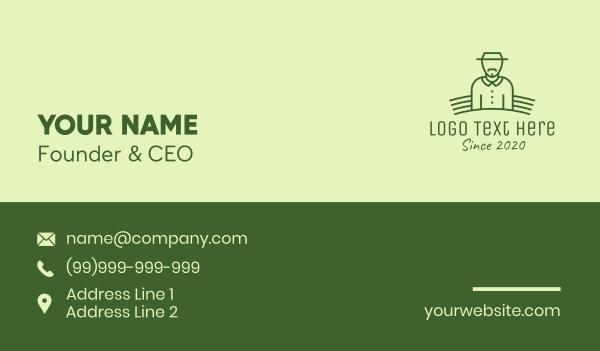 old man - Organic Farmer Business card horizontal design