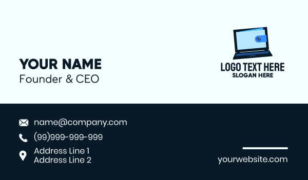 crypto - Online Wallet Transaction Business card horizontal design