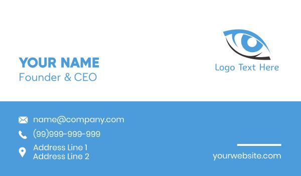 oculist - Black & Blue Eye Business card horizontal design