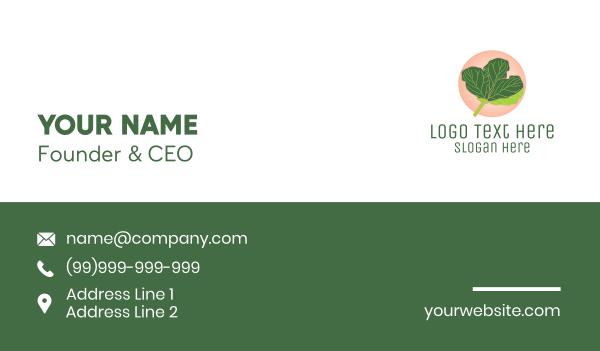 nutritionist - Fiddle Leaf Fig Plant  Business card horizontal design