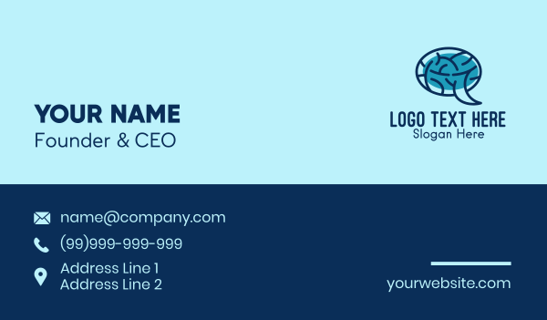 bubble - Brain Message Bubble Business card horizontal design