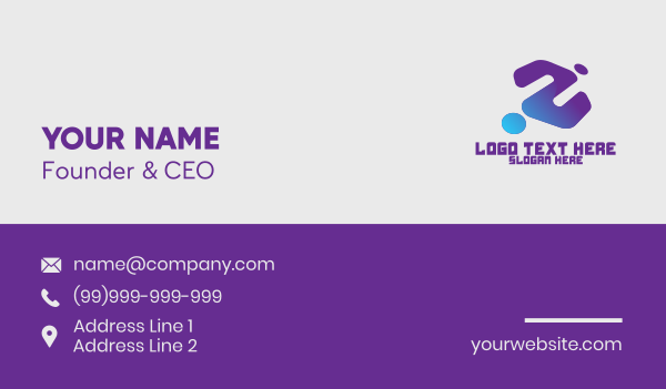 inverted - Generic Blue Gaming Clan Business card horizontal design
