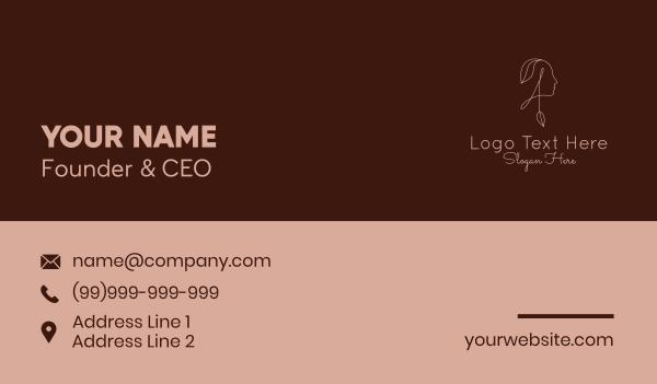 maiden - Beauty Woman Letter A  Business card horizontal design