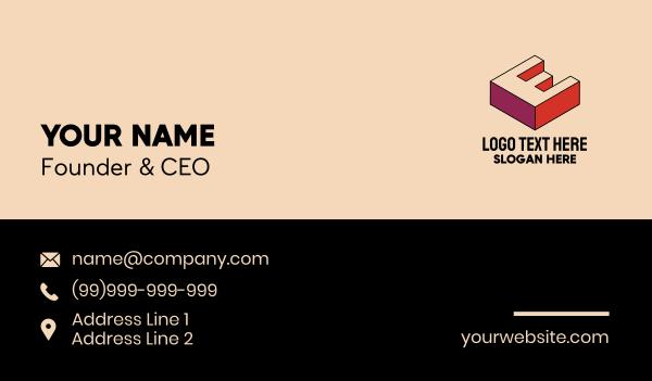 media company - 3D Pixel Letter W Business card horizontal design